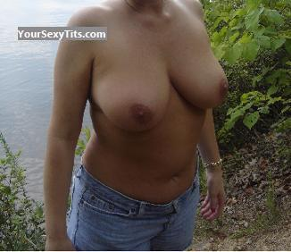 Tit Flash: Big Tits - Msroadrunner from United States